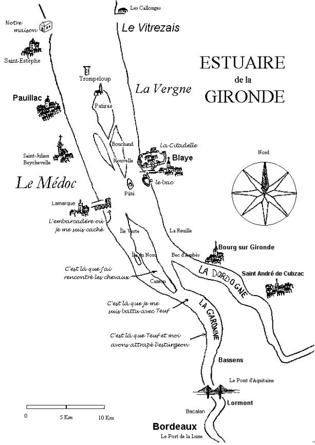 L'estuaire de la Gironde   L'appel du fleuve   Carte de l'estuaire